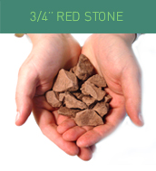 3/4 Red Stone